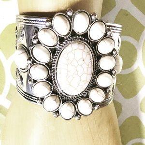 Gorgeous Boho Stone Bracelet Cuff